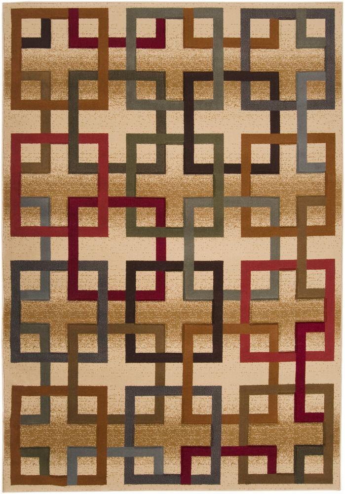 Artistic Weavers Turmero Gold 5 ft. 3-inch x 7 ft. 3-inch Indoor Contemporary Rectangular Area Rug