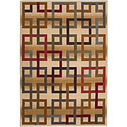 Artistic Weavers Carpette d'intérieur, 7 pi 10 po x 10 pi 3 po, style contemporain, rectangulaire, or Turmero