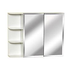 31 Inch Bi-View Medicine Cabinet With Side Shelf