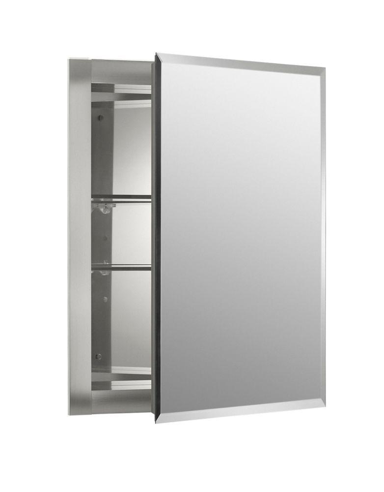 KOHLER 16-inch W x 20-inch H x 5-inch D Aluminum Recessed Medicine Cabinet
