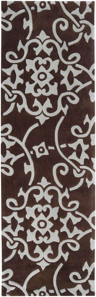 Labranza Pale Blue Polyester Runner - 2 Ft. 6 In. x 8 Ft. Area Rug