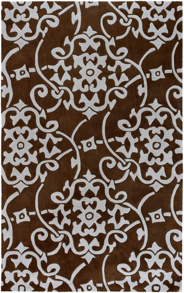 Tapis Carpette Labranza bleu pâle en polyester - 5 Po. x 8 Po.