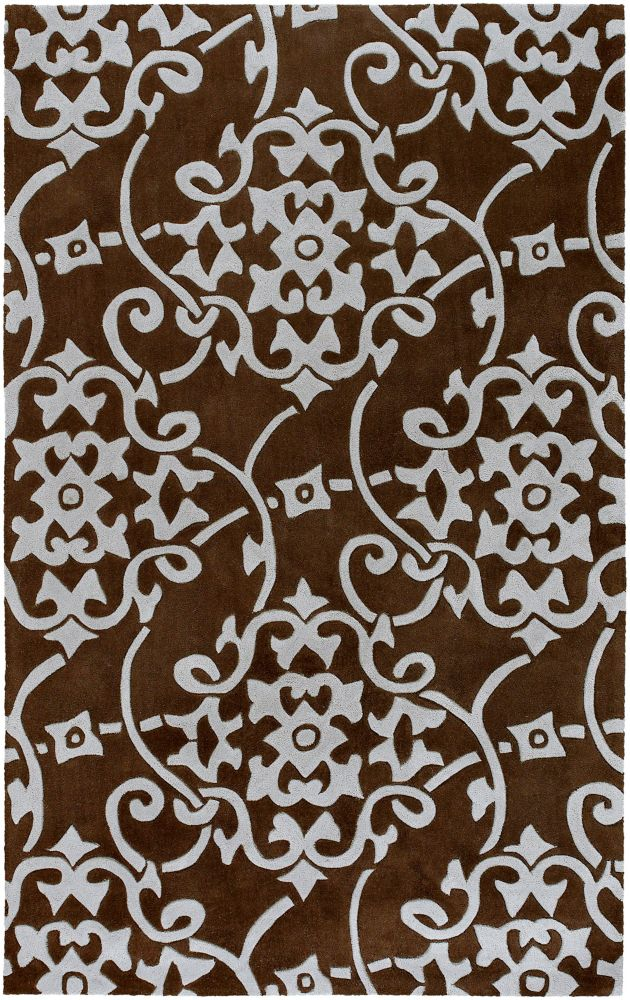 Labranza Brown 5 ft. x 8 ft. Indoor Transitional Rectangular Area Rug