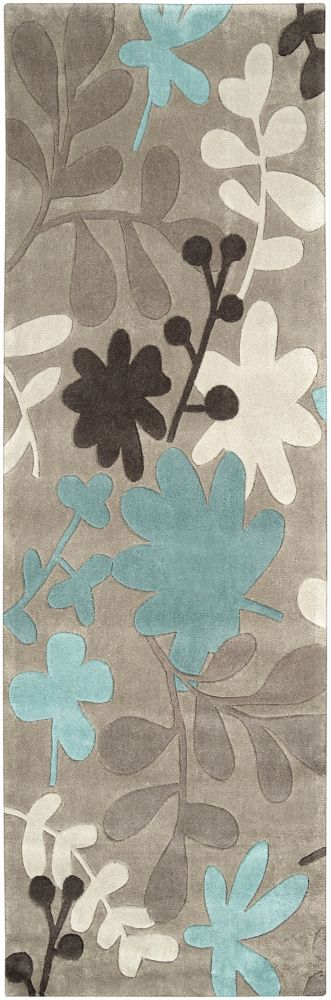 Angol Grey 2 ft. 6-inch x 8 ft. Indoor Transitional Runner