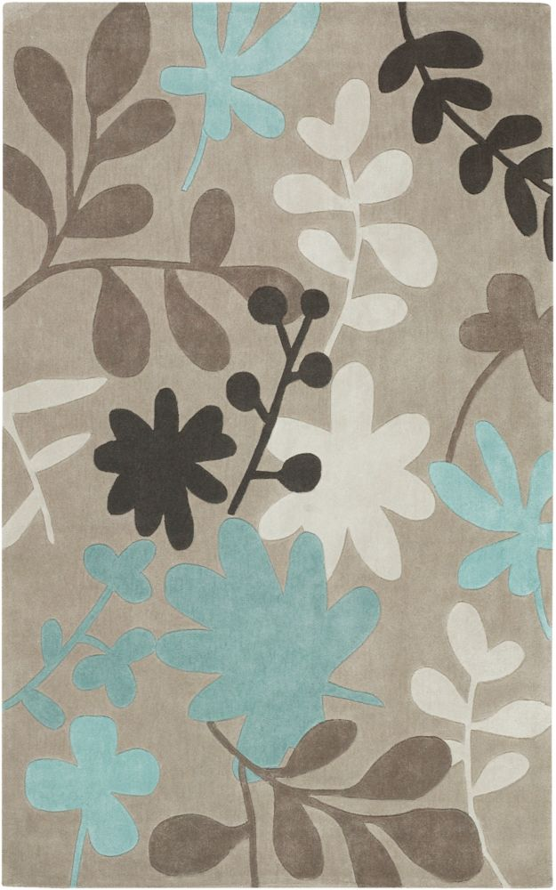 Angol Taupe Polyester  - 5 Ft. x 8 Ft. Area Rug