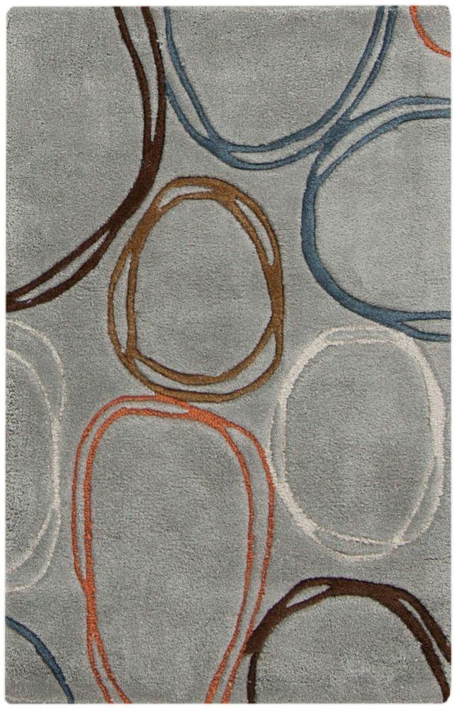 Valdivia Blue Gray Polyester 2 Feet x 3 Feet Accent Rug