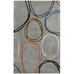 Artistic Weavers Carpette d'intérieur, 2 pi x 3 pi, style transitionnel, rectangulaire, gris Valdivia