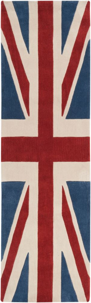Artistic Weavers Frutillar Union Jack Red 2 ft. 6-inch x 8 ft. Indoor Transitional Runner