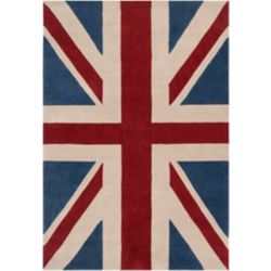 Artistic Weavers Frutillar Union Jack Red 5 ft. x 8 ft. Indoor Transitional Rectangular Area Rug