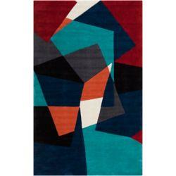 Artistic Weavers Carpette d'intérieur, 2 pi x 3 pi, style transitionnel, rectangulaire, bleu Castro