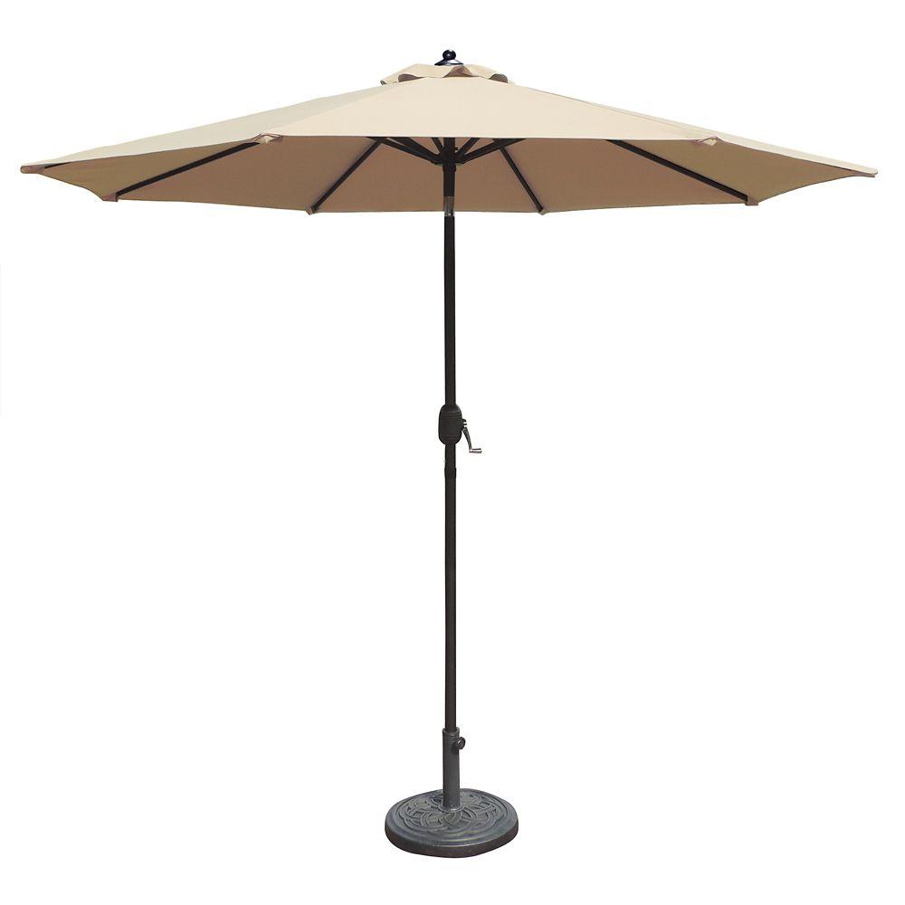 Catalina II parasol, auto-inclinable, forme octogonale, 2,75 m en oléfine champagne