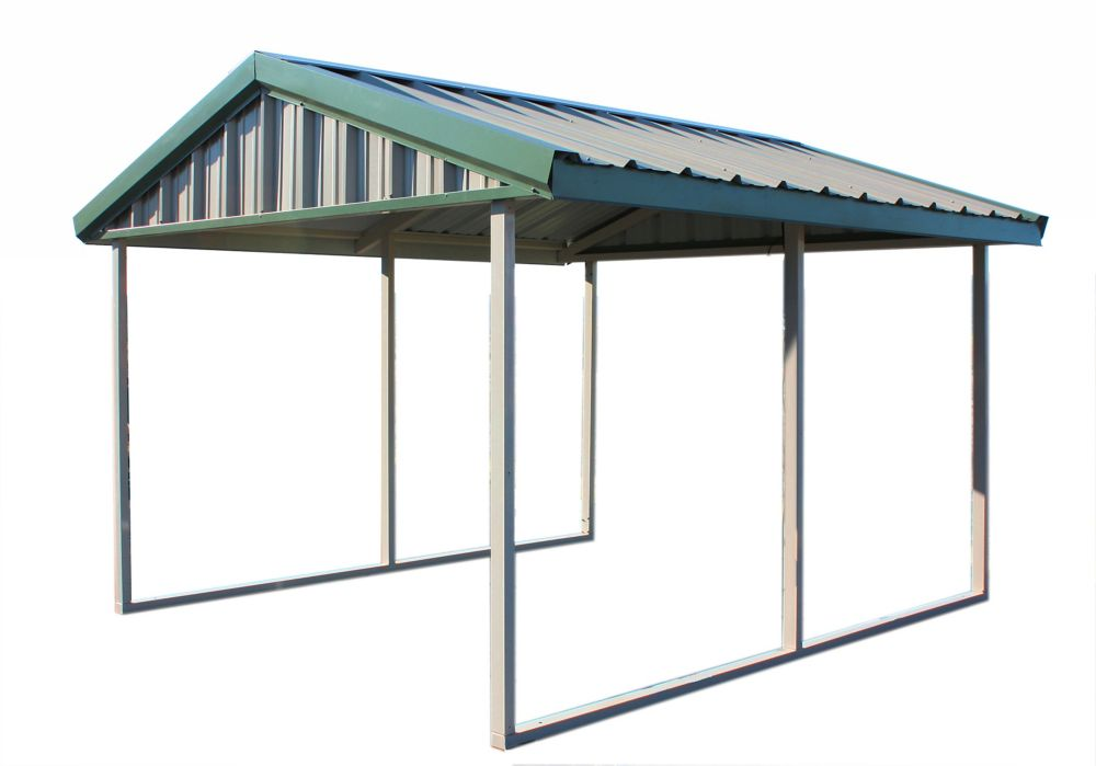 Home Depot Metal Canopy : Home depot carport pws premium ft canopy