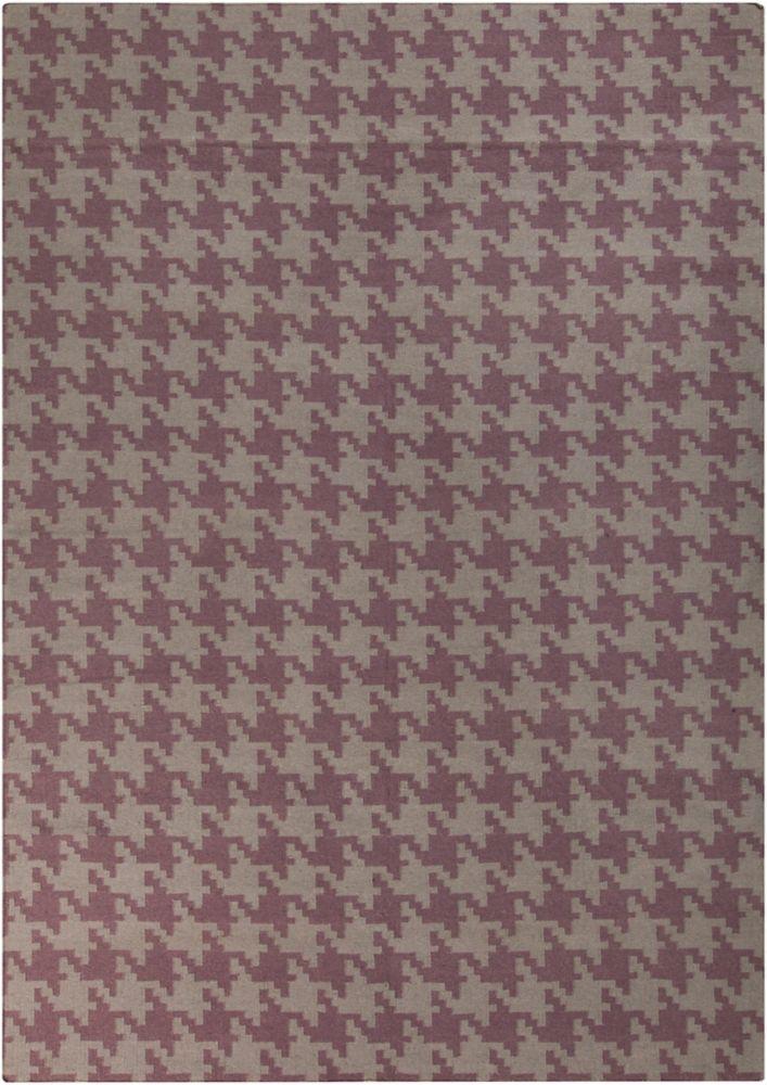 Sorocaba Mulled Wine Wool Flatweave 8 Feet x 11 Feet Area Rug
