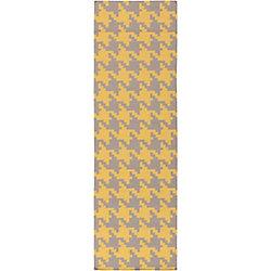 Artistic Weavers Tapis de passage d'intérieur, 2 pi 6 po x 8 pi, style contemporain, jaune Londrina