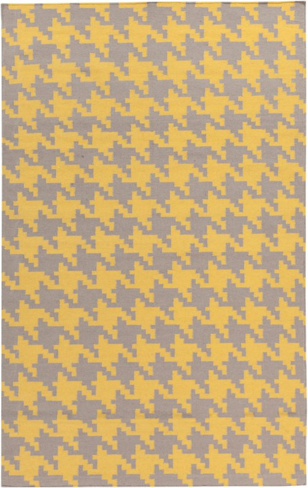 Londrina Yellow 8 ft. x 11 ft. Indoor Contemporary Rectangular Area Rug
