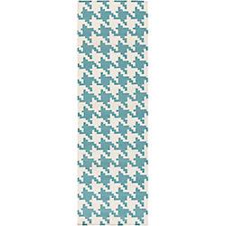Artistic Weavers Tapis de passage d'intérieur, 2 pi 6 po x 8 pi, style contemporain, bleu Preta