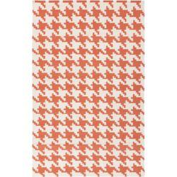 Artistic Weavers Carpette d'intérieur, 5 pi x 8 pi, à poils longs, style contemporain, rectangulaire, orange Diada