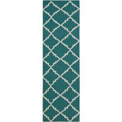 Artistic Weavers Tapis de passage d'intérieur, 2 pi 6 po x 8 pi, style contemporain, bleu Campina