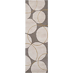 Artistic Weavers Tapis de passage d'intérieur, 2 pi 6 po x 8 pi, style contemporain, gris Norte