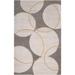 Artistic Weavers Carpette d'intérieur, 5 pi x 8 pi, à poils longs, style contemporain, rectangulaire, gris Norte