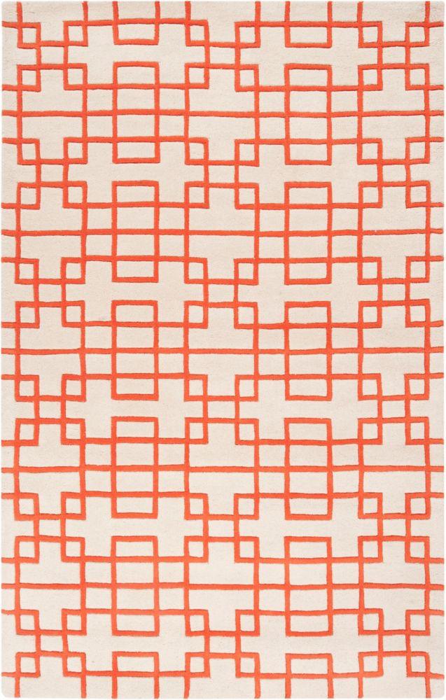 Tapis Embu rouge coquelicot en laine de Nouvelle-Zélande 2 Pi. x 3 Pi.