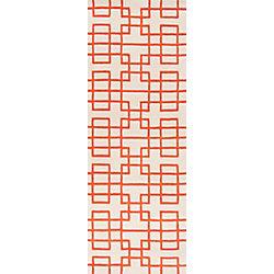 Artistic Weavers Embu Red 2 ft. 6-inch x 8 ft. Indoor Contemporary Runner