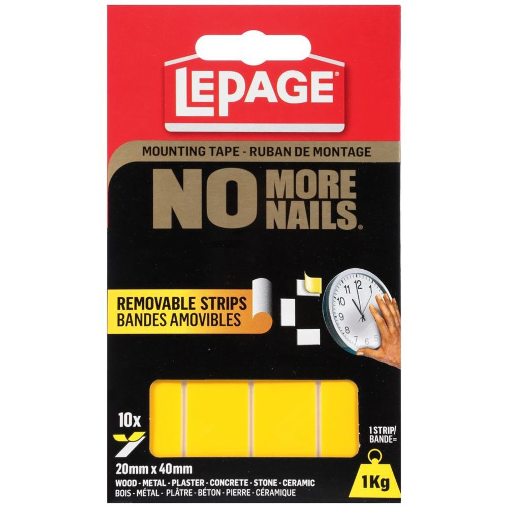 No More Nails Mounting Tape Removable Strips