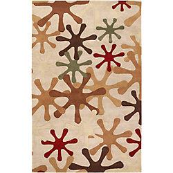 Artistic Weavers Carpette d'intérieur, 5 pi x 8 pi, style transitionnel, rectangulaire, blanc cassé Cartagena