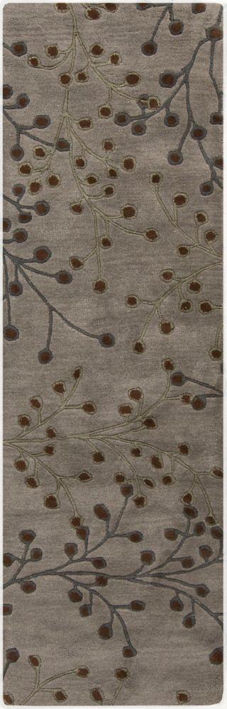 Palmilla Gray Wool Runner - 2 Ft. 6 In. x 8 Ft. Area Rug