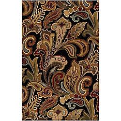 Artistic Weavers Carpette d'intérieur, 2 pi x 3 pi, style transitionnel, rectangulaire, noir Culenar