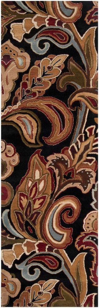 Culenar Black Wool Runner - 2 Ft. 6 In. x 8 Ft. Area Rug