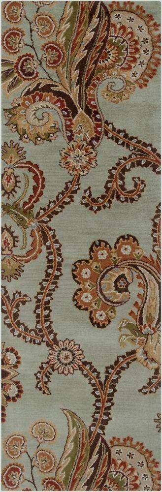Molina Seafoam Wool Runner - 2 Ft. 6 In. x 8 Ft. Area Rug Molina-B Canada Discount