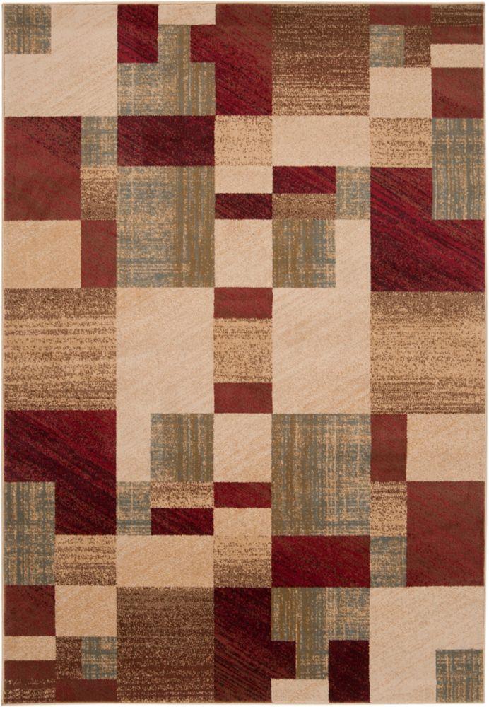 Cottica Brown 7 ft. 10-inch x 10 ft. 10-inch Indoor Transitional Rectangular Area Rug
