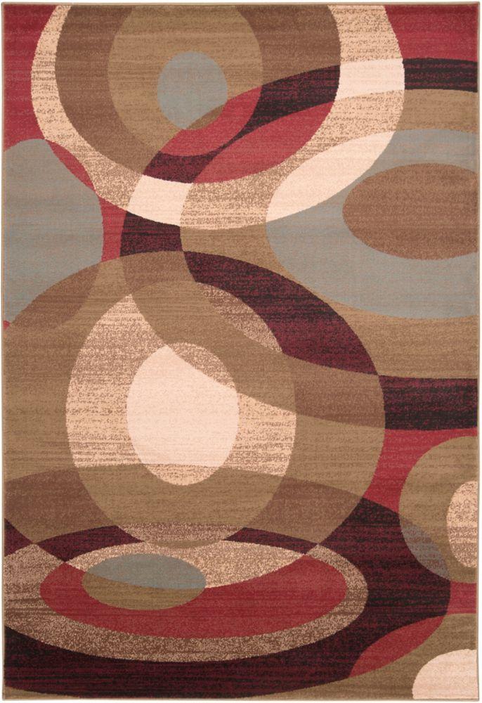 Carpette Gronike poire clair en polypropylène - 5 pieds 3 pouces x 7 pieds 6 pouces