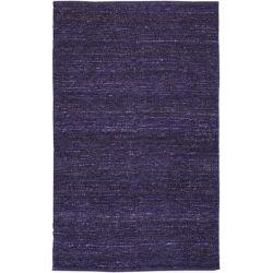 Artistic Weavers Carpette d'intérieur, 5 pi x 8 pi, tissage texturé, rectangulaire, violet Cisterna