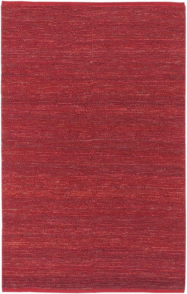 Tapis Carpette Macul rouge en jute - 5 Po. x 8 Po.