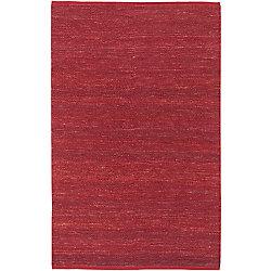 Artistic Weavers Carpette d'intérieur, 5 pi x 8 pi, tissage texturé, rectangulaire, rouge Macul
