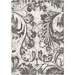 Artistic Weavers Carpette d'intérieur, 5 pi 3 po x 73 pi 6 po, style contemporain, rectangulaire, gris Talagante