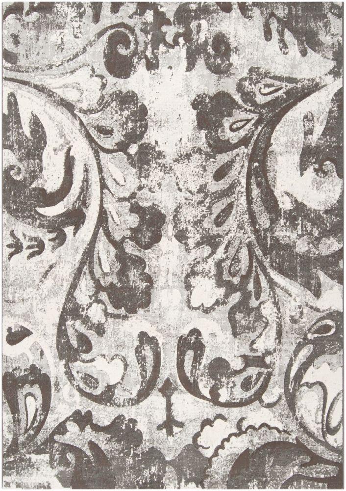 Talagante Gray Polypropylene 5 Feet 3 Inch x 7 Feet 6 Inch Area Rug