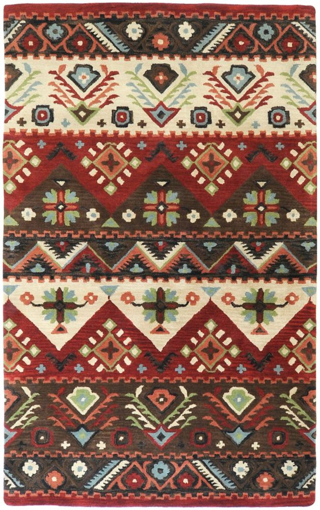 Yala Red 5 ft. x 8 ft. Indoor Contemporary Rectangular Area Rug