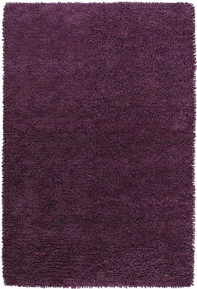 Pisco Purple New Zealand Felted Wool Shag 8 Ft. x 10 Ft. 6 In. Area Rug Pisco-D Canada Discount