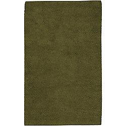 Artistic Weavers Carpette d'intérieur, 2 pi x 3 pi, à poils longs, rectangulaire, vert Imperial