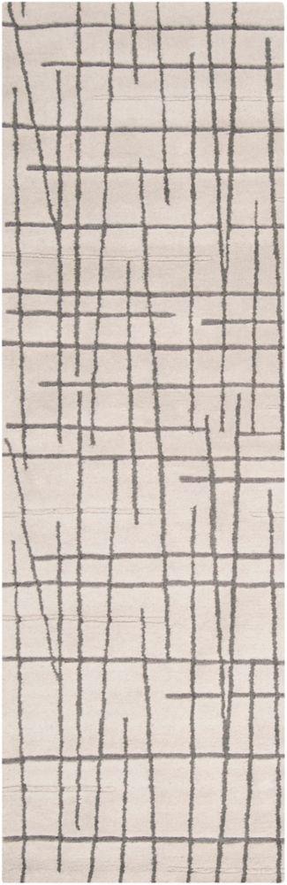 Pascua Ivory New Zealand Wool 2 Ft. 6 In. x 8 Feet Runner