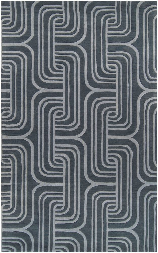 Tocuya Midnight Blue Wool 5 Ft. x 8 Ft. Area Rug
