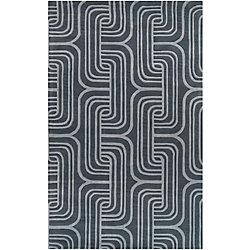 Artistic Weavers Carpette d'intérieur, 5 pi x 8 pi, style transitionnel, rectangulaire, bleu Tocuya
