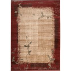 Artistic Weavers Villiea Red 7 ft. 6-inch x 11 ft. 2-inch Indoor Transitional Rectangular Area Rug