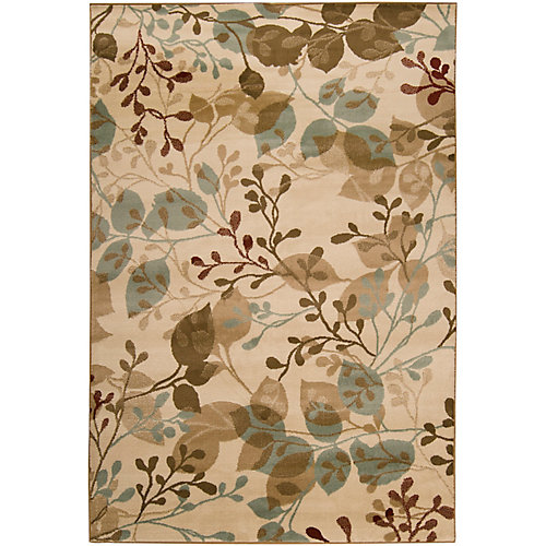 Pampatar Beige Tan 7 ft. 6-inch x 11 ft. 2-inch Indoor Transitional Rectangular Area Rug