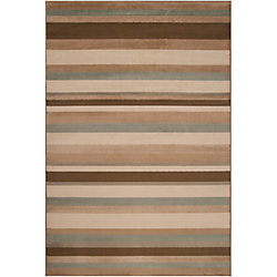 Artistic Weavers Parlamo Brown 5 ft. 3-inch x 7 ft. 6-inch Indoor Transitional Rectangular Area Rug