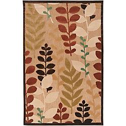 Artistic Weavers Tapis de passage d'intérieur/extérieur, 5 pi x 7 pi 6 po, style transitionnel, rectangulaire, havane Casa nay
