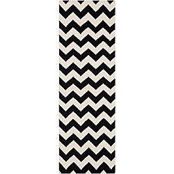 Artistic Weavers Canoas Black 2 ft. 6-inch x 8 ft. Indoor Contemporary Runner